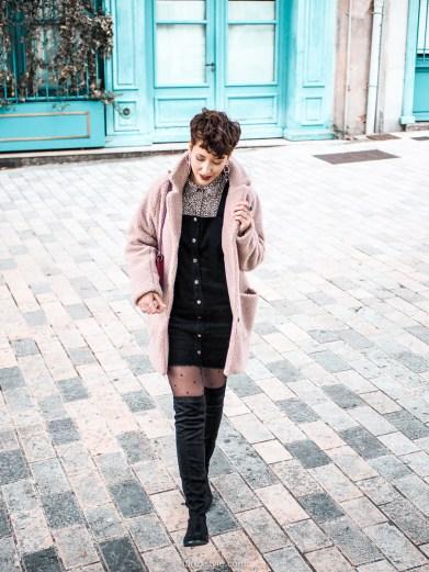 porter la robe salopette en hiver