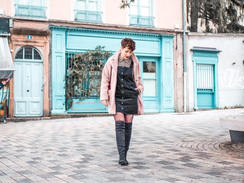 look blog mode robe salopette en hiver