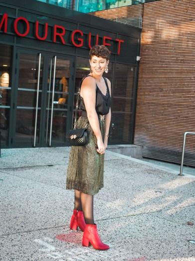 blog mode look tenue fetes jupe paillettes