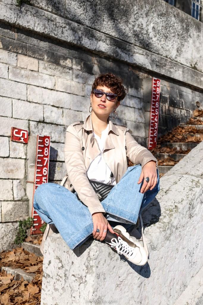 look blog trench coat - comment porter le trench coat avec un jean