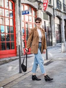 look blog blazer camel vintage - tendance blazers vintage
