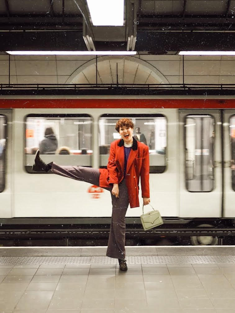 shooting dans le metro - subway photoshoot inspiration