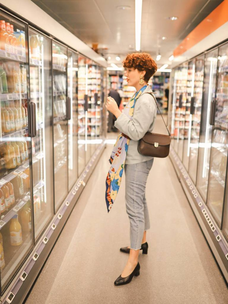 shooting au supermarche - supermarket photoshoot ideas