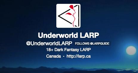 Underworld LARP Twitter Profile
