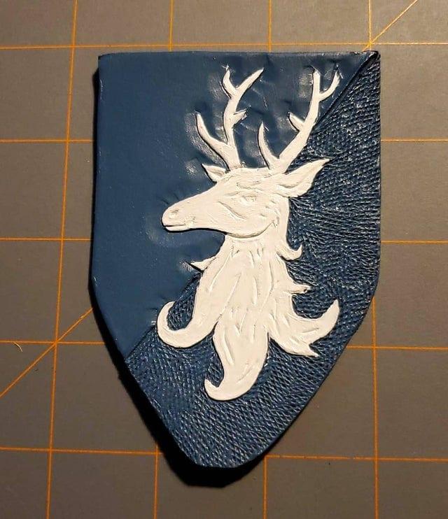 Deer Leather Badge Progress