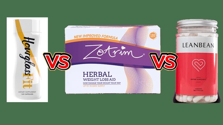 Zotrim vs LeanBean vs HourGlass Fit comparison by Larry Beinhart