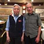 Dr. Larry Berkelhammer and his teacher, Grandmaster William C.C. Chen in May 2015