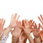 bigstock-hands-up-group-people-isolated-27261539