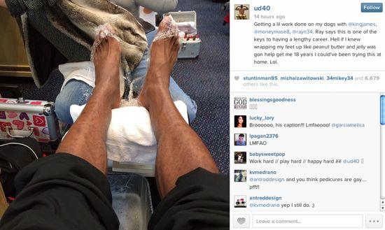 LeBron James Miami Heat players get pedicures  Larry