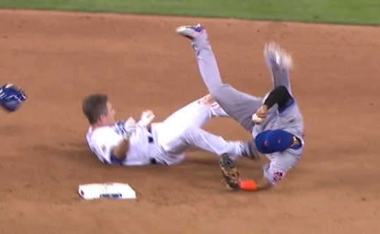 Image result for chase utley takes out ruben tejada