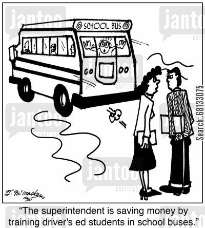 Cartoons on School Boards, Superintendents, and Principals