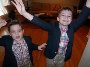 Boys celebrating Passover Holiday