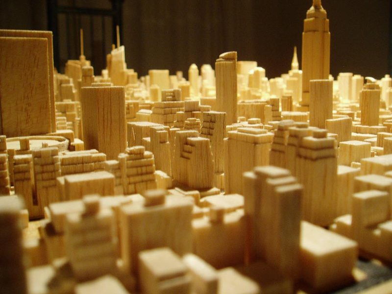 Amazing Detailed Carved Model of Midtown Manhattan by Michael Chesko