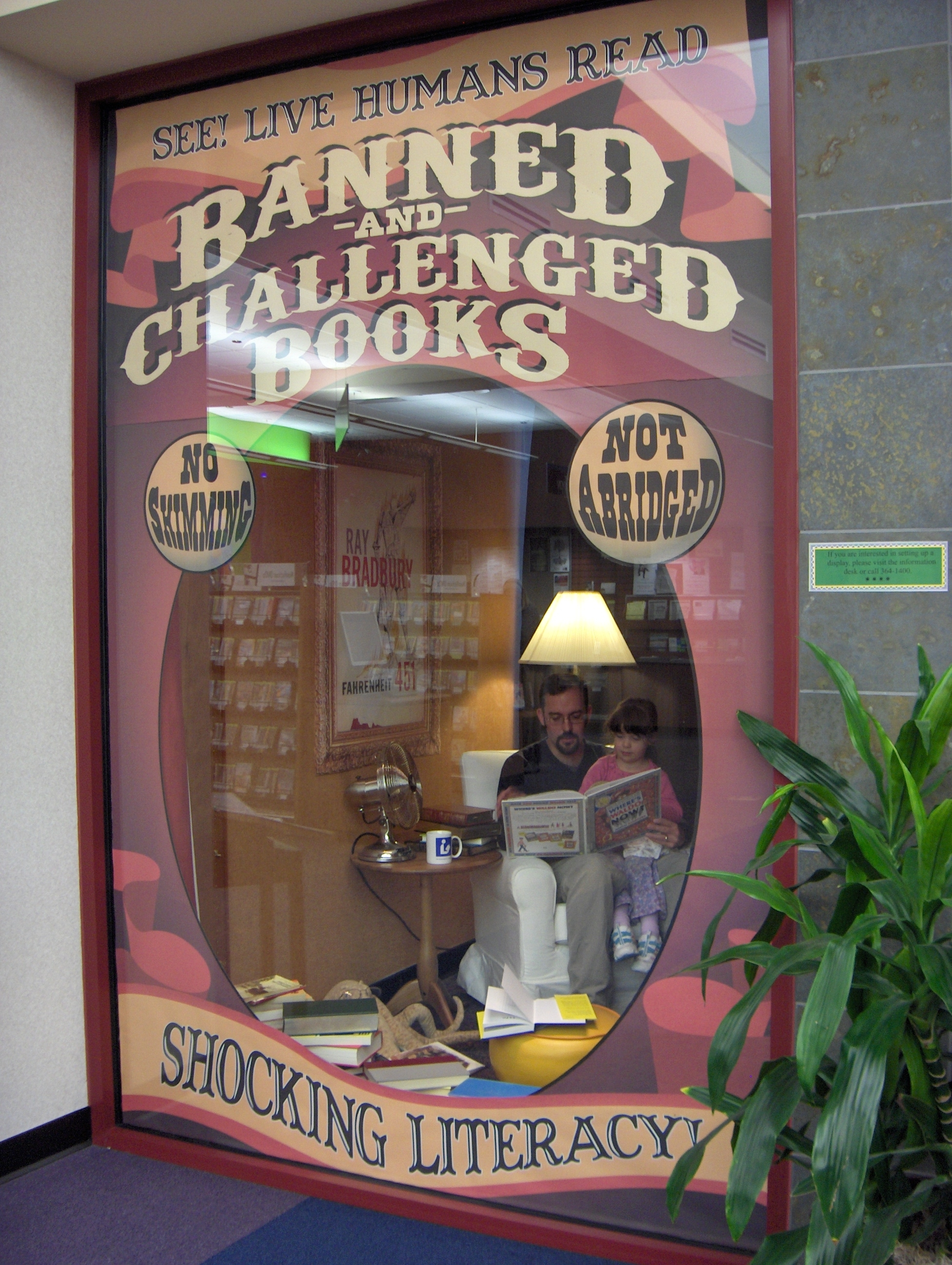 Library Celebrates Banned Books Week With Unique Window