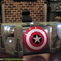 Captain America Table And Chair Set Phil Teds Me Too Portable High Recall The Avengers Movie Themed Desk