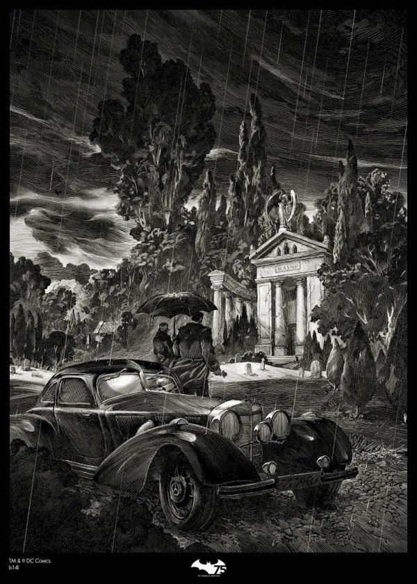 Batman Print Nicolas Delort