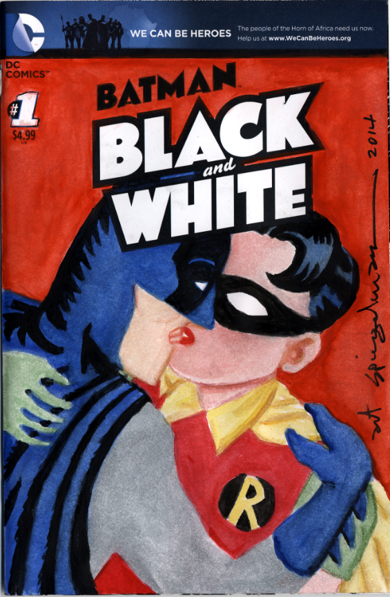 Chip Kidd Presents Batman Black and White The Sketch Covers At The Society of Illustrators