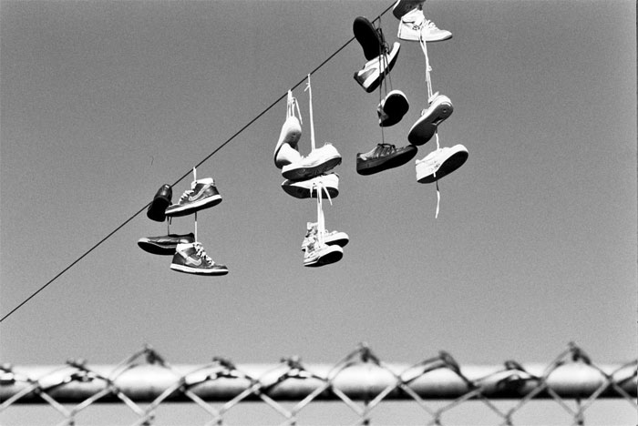 shoes on the line