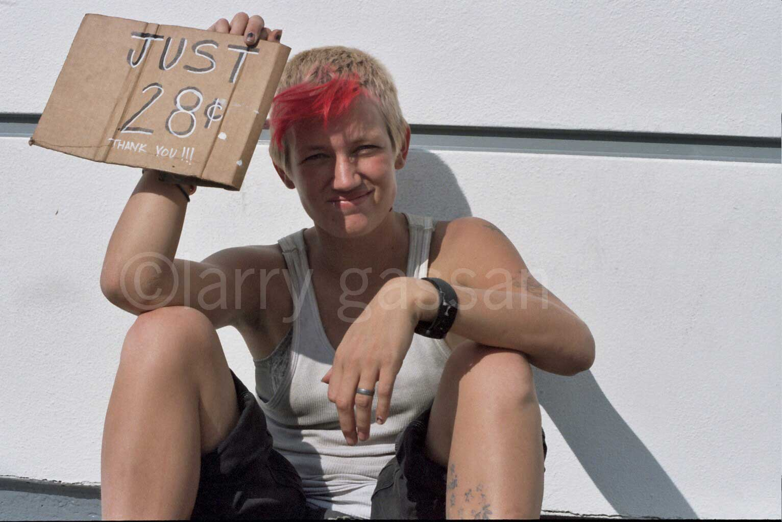 Panhandler Posts Her Day-Rate