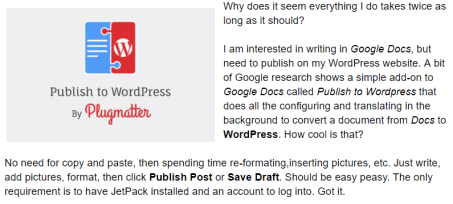 Publish to WordPress Screenshot