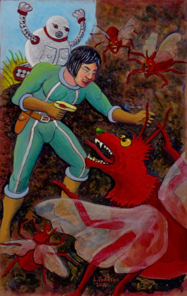 Larry Johnson artist, Jesse Stuart, Science Fiction Illustration, Tales of Fantasy #53