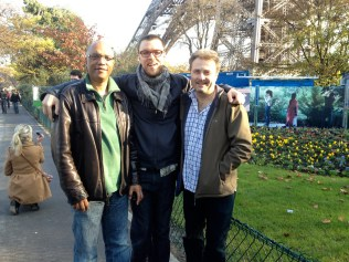 photo of Billy Childs, Hamilton Price, and Tim Garland at Eiffel Tower