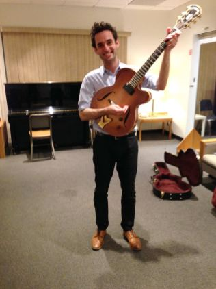 photo of Julian Lage Playing Jimmy Wyble's Favorite Borys Archtop with Fred Hersc