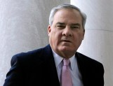In this Thursday Sept. 18, 2014 photo, former Connecticut Gov. John G. Rowland arrives at federal court in New Haven, Conn. A jury convicted Rowland Friday, Sept. 19, 2014 on all charges that he conspired to be paid for work on two political campaigns while disguising those payments in business deals. It is the second felony conviction for Rowland, who resigned as governor a decade ago in a scandal over illegal gifts he received while in office. (AP Photo/Jessica Hill)