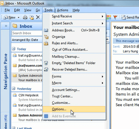 Outlook - Archive Email | Level Up