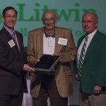 (L-r) Larry, Dr. Robert Tree (Larry's history professor) and Dave Neff, classmate andWall of Honor co-chair.
