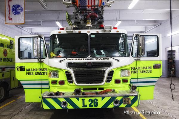 fire truck in quarters