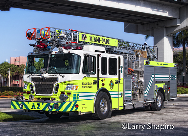 Miami-Dade Aerial 2 has a 60' ladder.