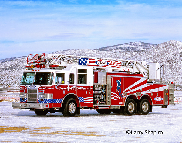 the official fire truck for the Salt Lake 2002 winter games
