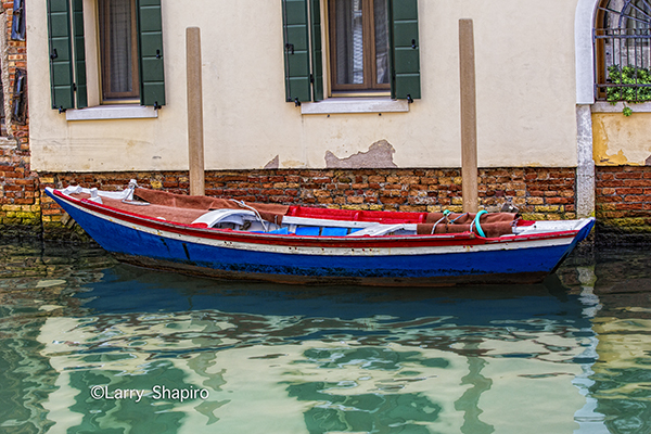 boat still life in Venice