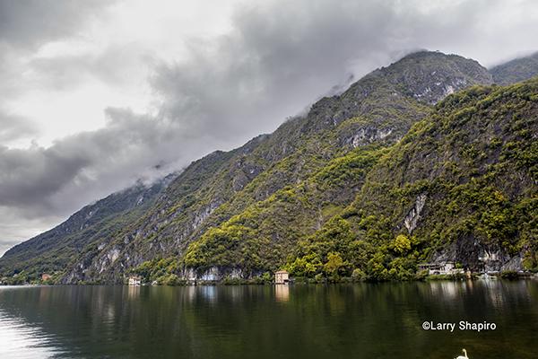 Lake Lugano near the Porlezza Italy