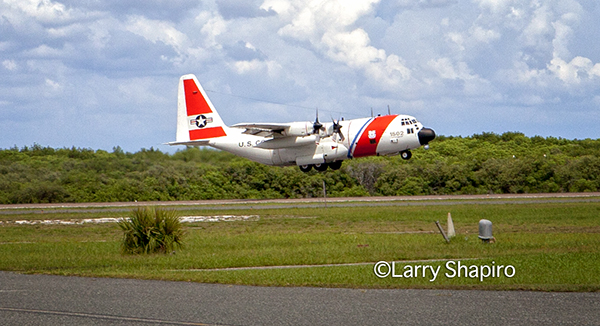 USCG C-130 Hercules taking off from the St. Pete/Clearwater International Airport. Larry Shapiro photo