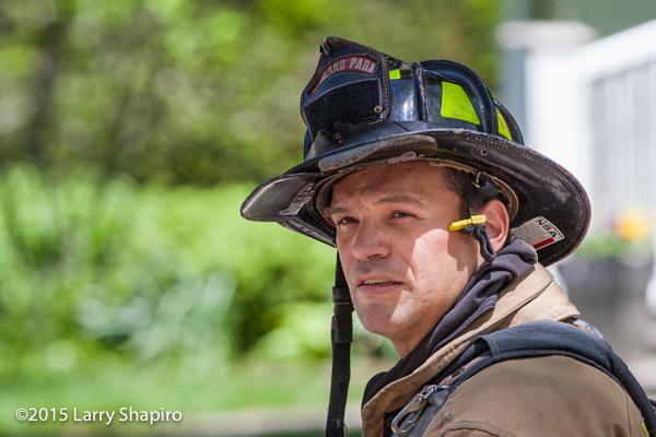 face of a fireman