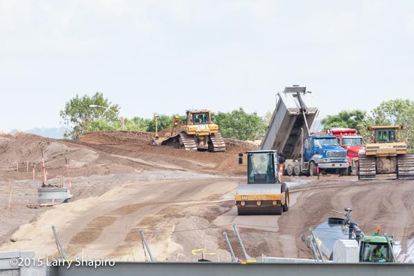 grading a new roadway