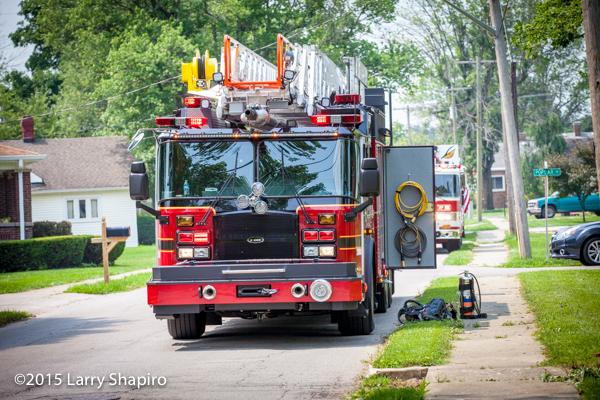 Brownsburg Fire Department ladder truck