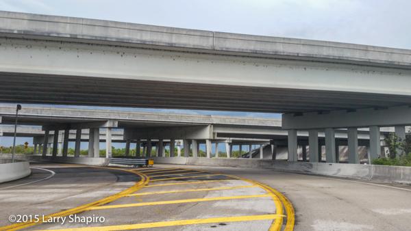 Highway bridges in Florida under I75 Alligator Alley
