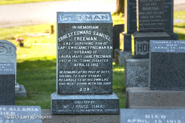Ernest Edward Samuel Freeman perished on the RMS Titanoc