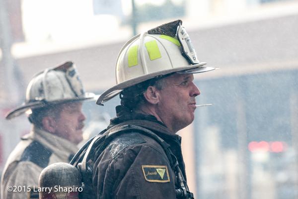 fireman eating a sucker
