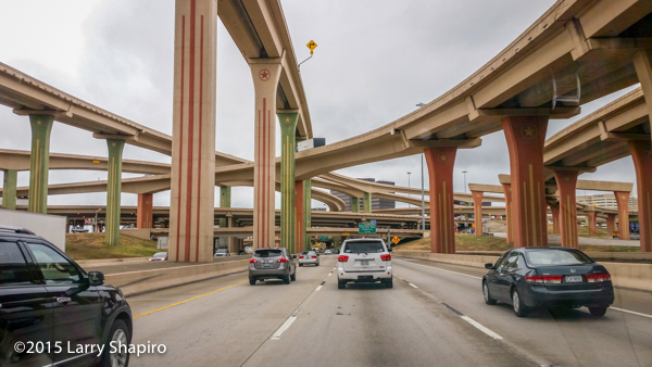 beautiful highway bridges and ramps in Texas
