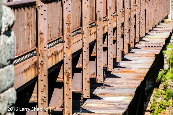 rusting steel bridge