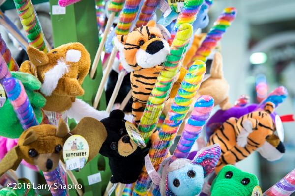 stuffed animals and candy