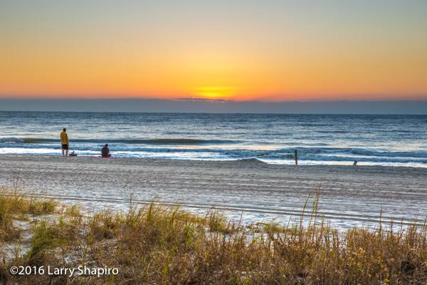 ocean sunrise from Myrtle Beach SC