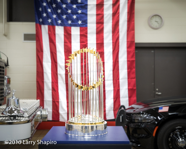 The World Series championship trophy