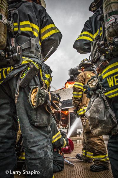 image of Firefighters adjusted using Adobe Lightroom