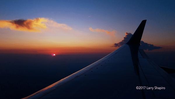 Birmingham sunset from 18,000 feet