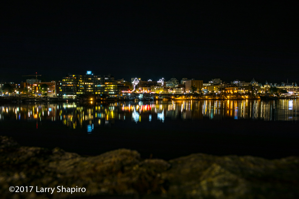 The Victoria Harbour at night